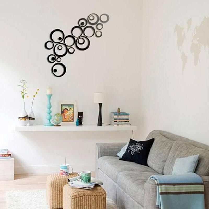 Наклейки на стены: примеры красивого и бюджетного декора стен