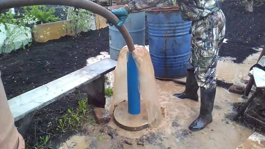 Чистка скважин и промывка своими руками от песка и ила, видео