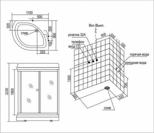 Размеры душевых кабин (29 фото): обзор минимальных и обычных размеров, большие варианты. как подобрать оптимальный – комфортный размер?