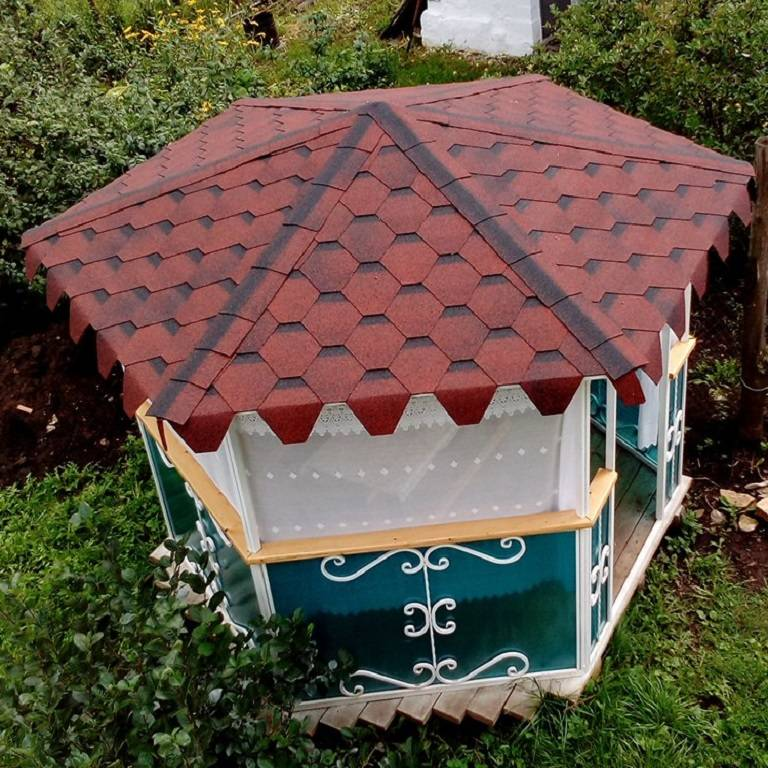 Крыша для беседки: конструкция и материалы