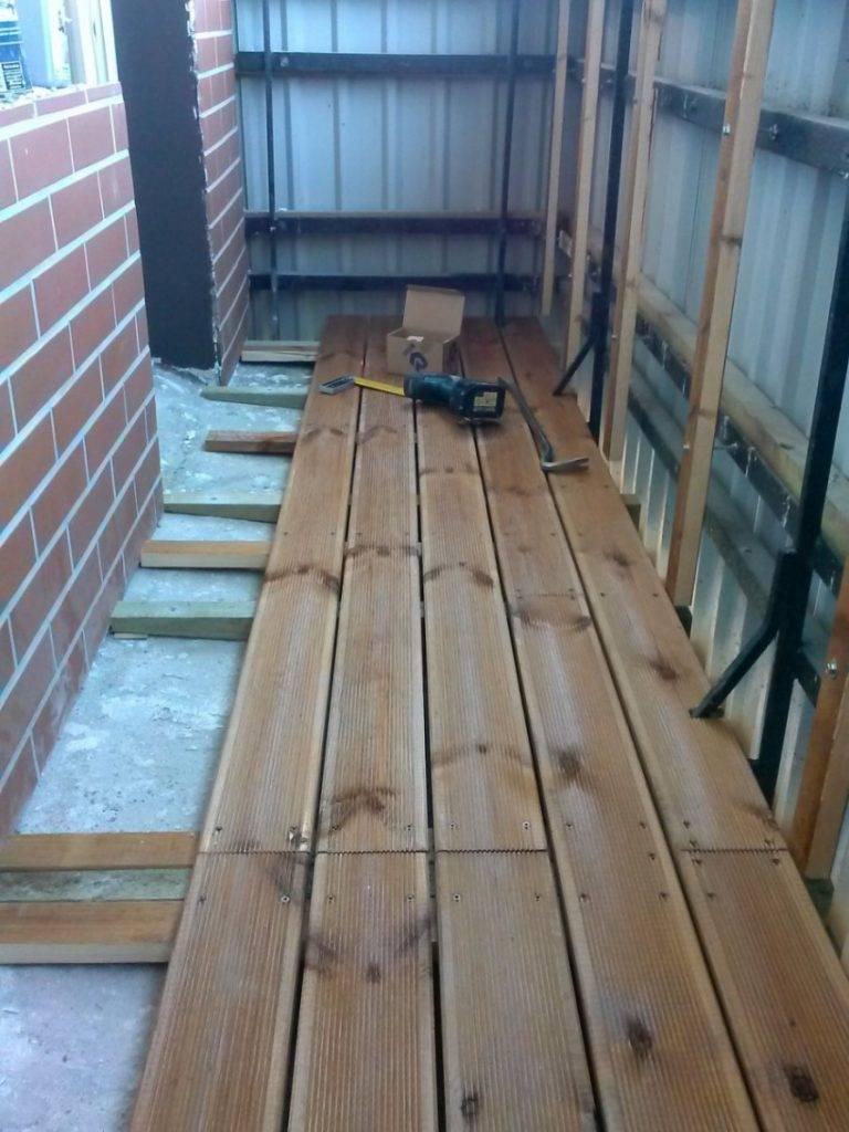 Как поднять пол на балконе и лоджии своими руками: на 15 см, 20 см, 25 см, 30 см