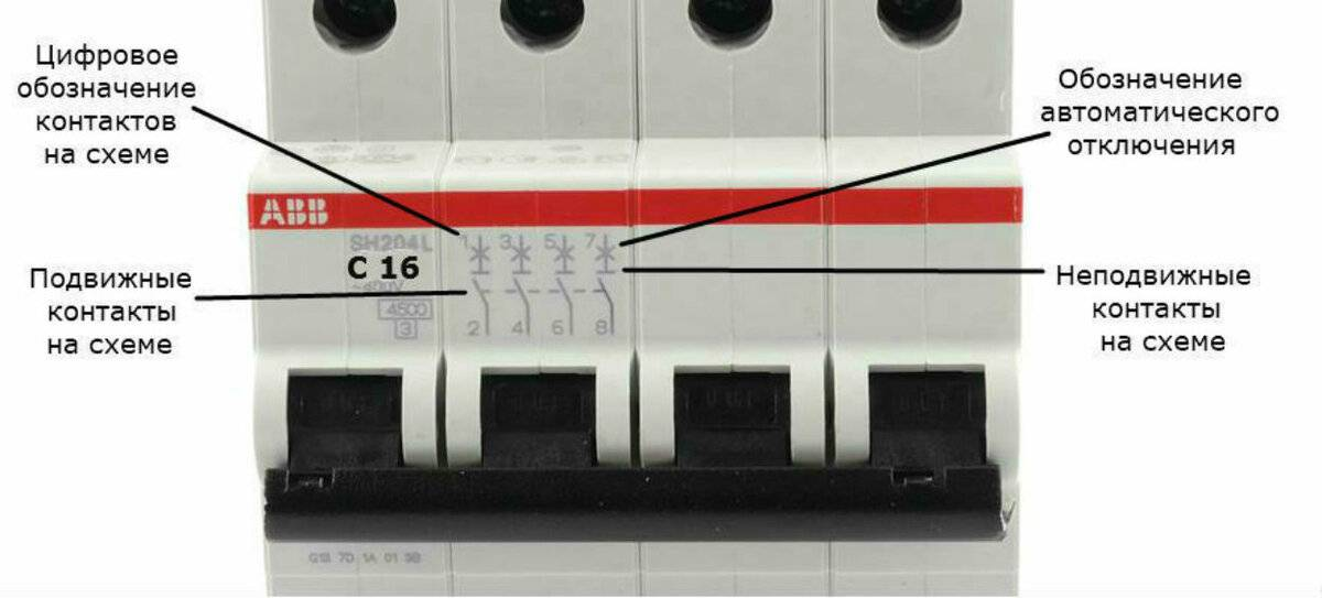 Маркировка автоматических выключателей: обозначения и надписи