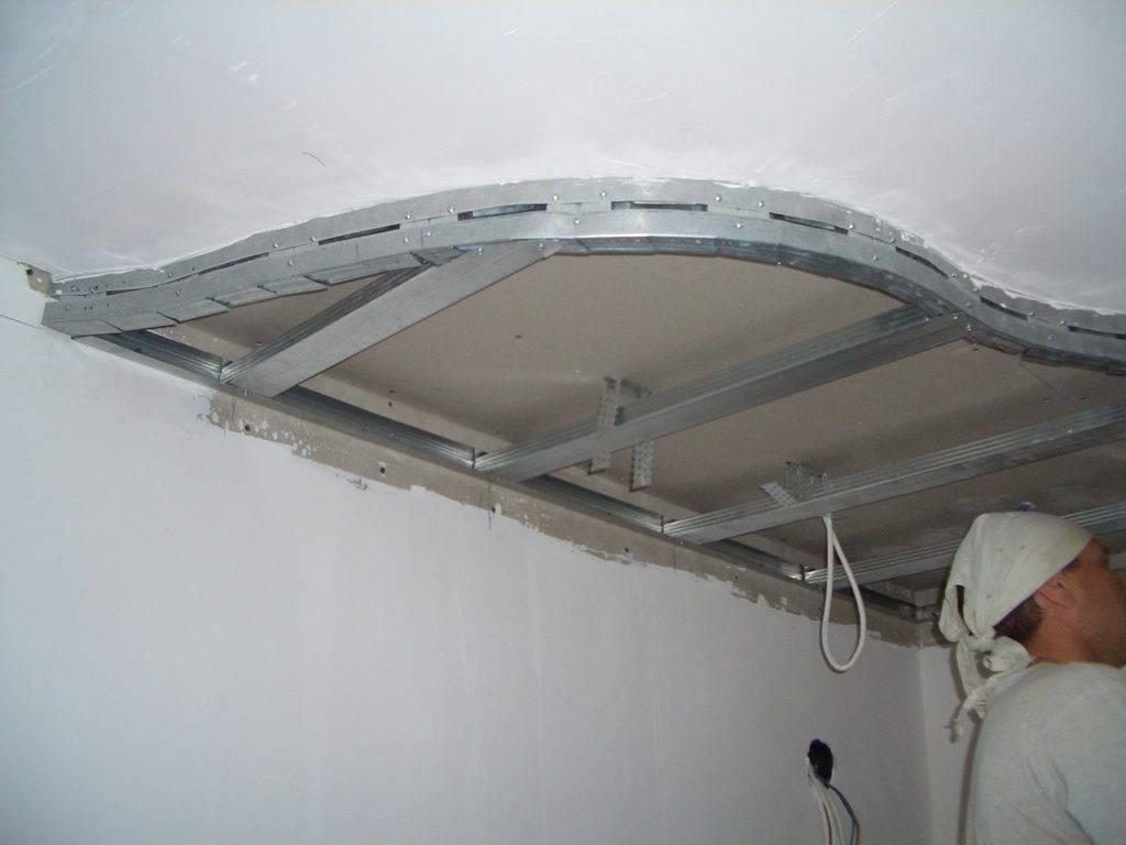 Подвесной потолок с двухуровневым каркасом | gipsokart.ru