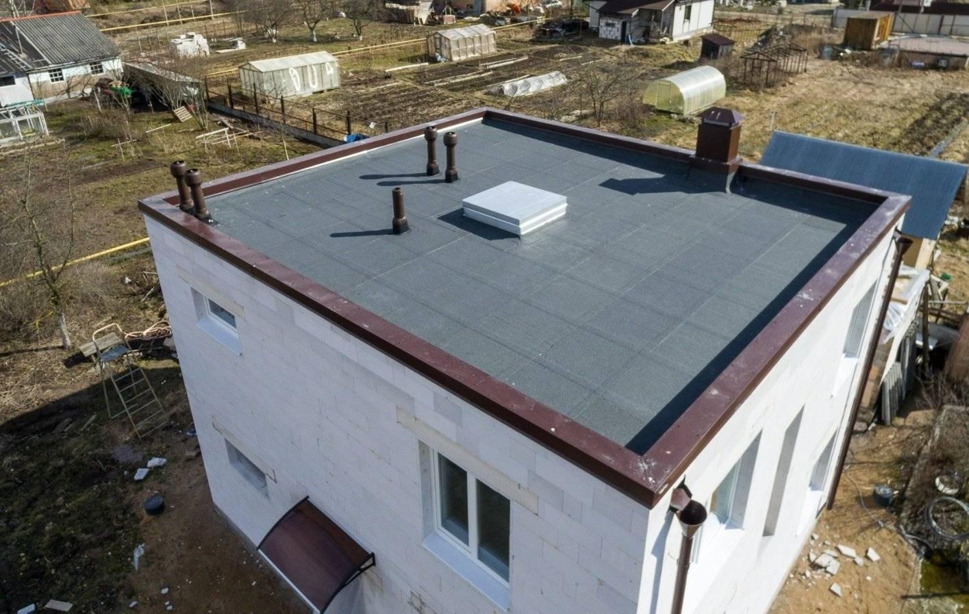 Плоская крыша: особенности устройства и монтажа