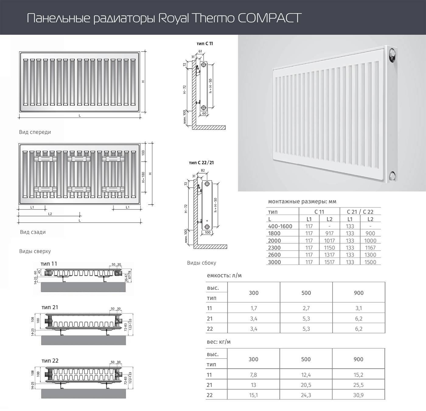 Радиаторы отопления керми: технические характеристики и цены