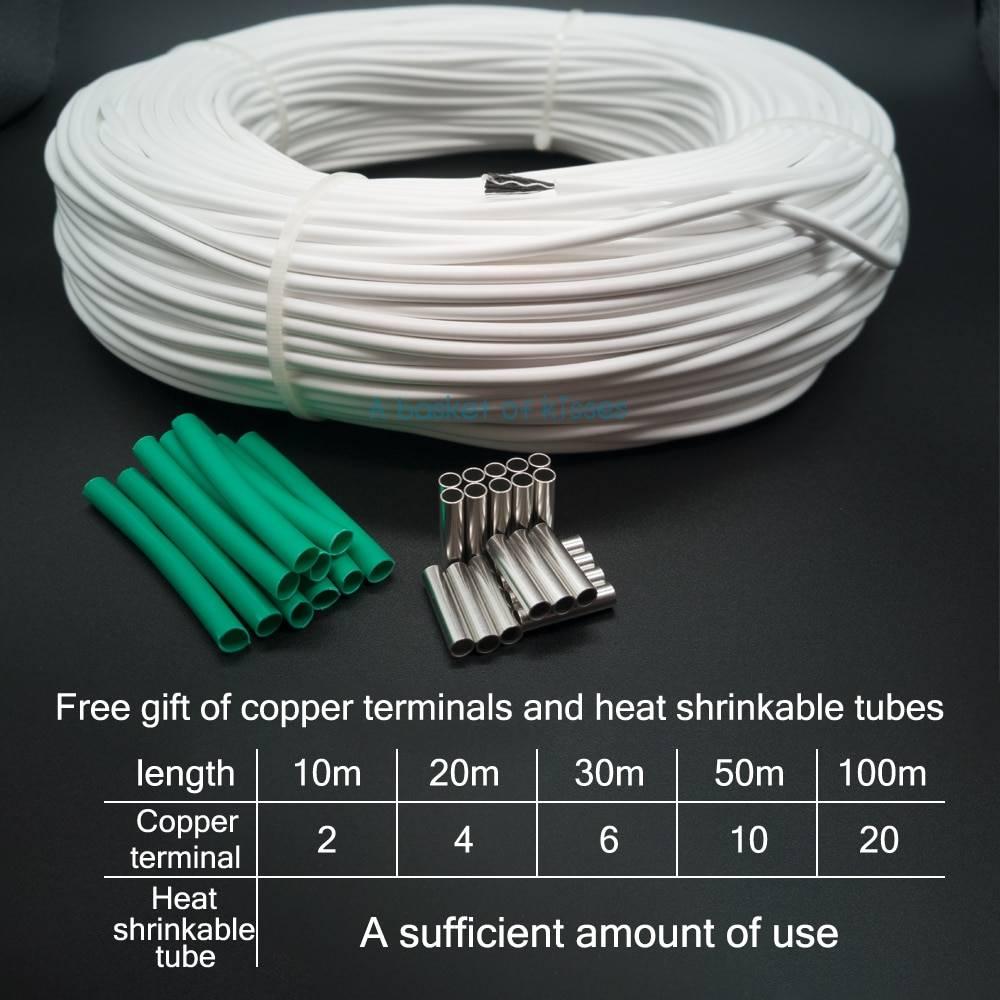 Кабель для теплого пола: выбор мощности нагревательного карбонового кабеля, ремонт греющего углеволоконного изделия - паять или нет