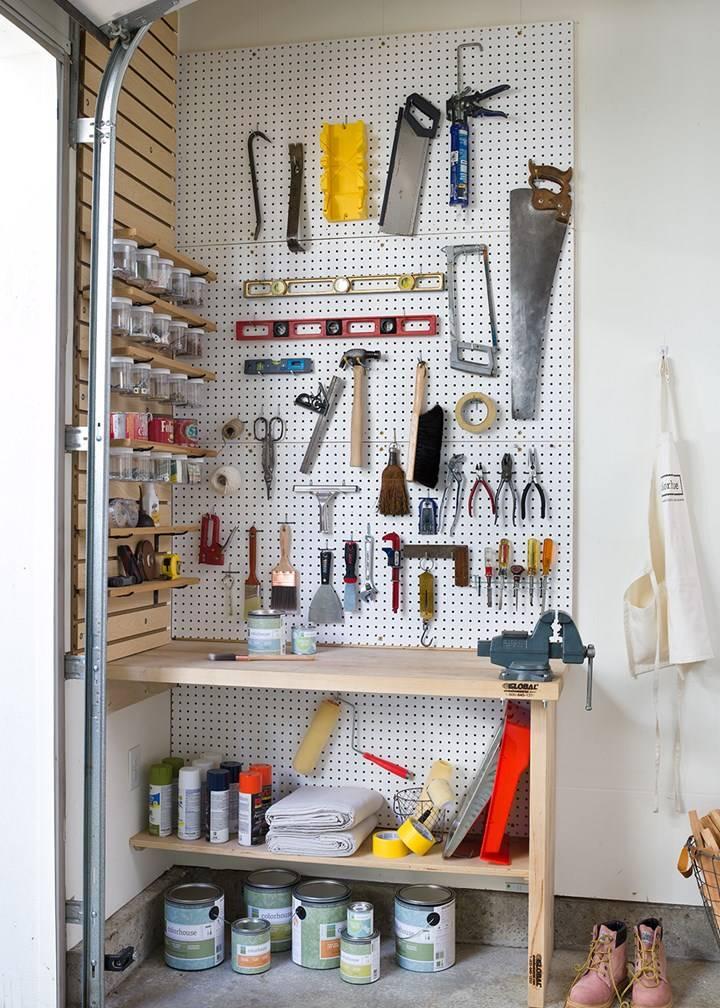 Подставка для ключей в гараже. домашняя мастерская – оптимизация пространства и удобное хранение инструментов. плечики для одежды