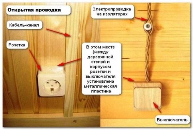 Как сделать проводку в деревянном доме - строительство и ремонт