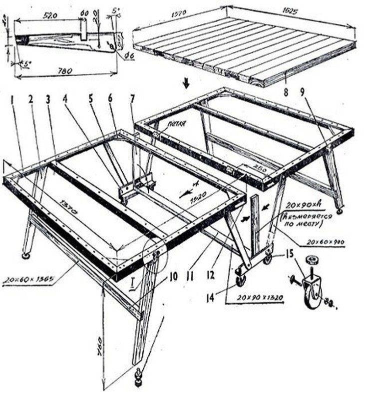 Швейный стол своими руками 500 фото, чертежи, инструкции