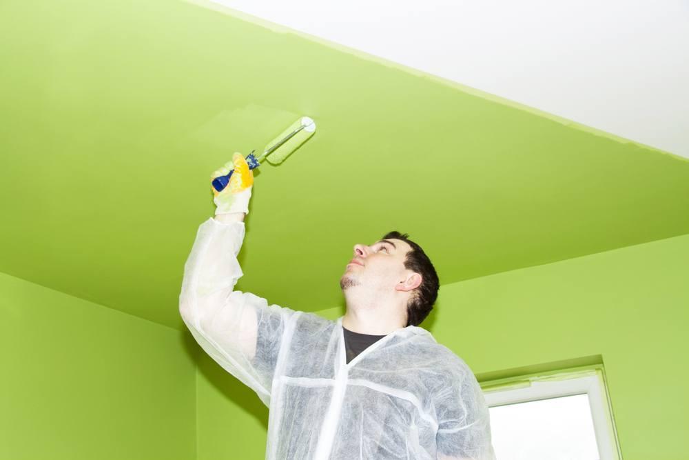 Покраска потолков из гипсокартона, как правильно сделать отделку и шпаклевку, какую краску выбрать, фото и видео примеры