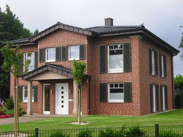 Фасад из клинкерного кирпича: отделка, процесс и его стоимость