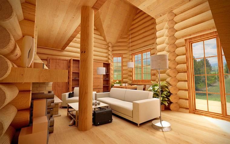 Внутренняя отделка деревянного дома: технические особенности | красная армия