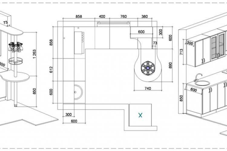 Барная стойка для кухни: варианты, размеры, чертежи, фото