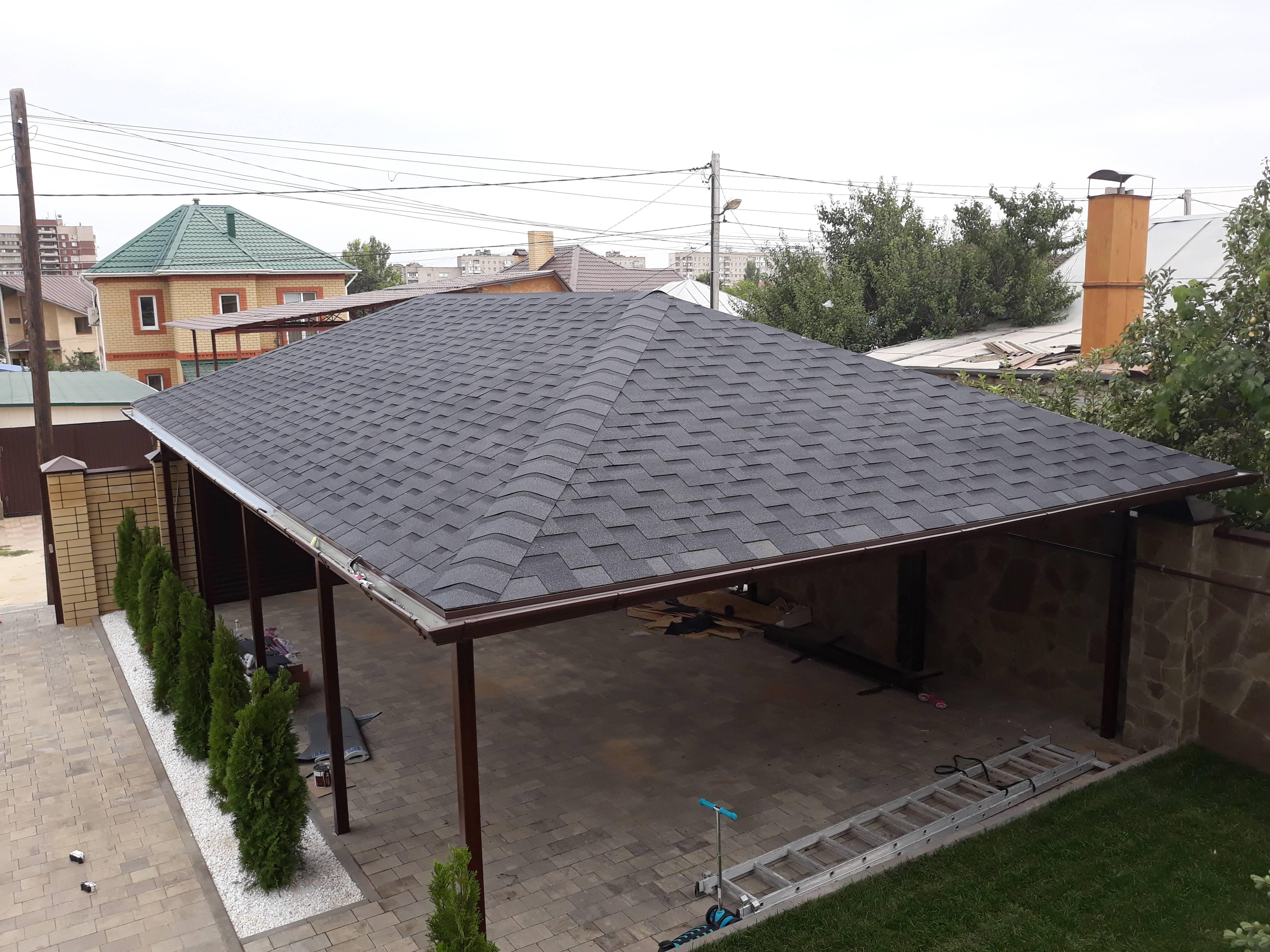 Чем покрыть крышу беседки недорого — сравнение материалов