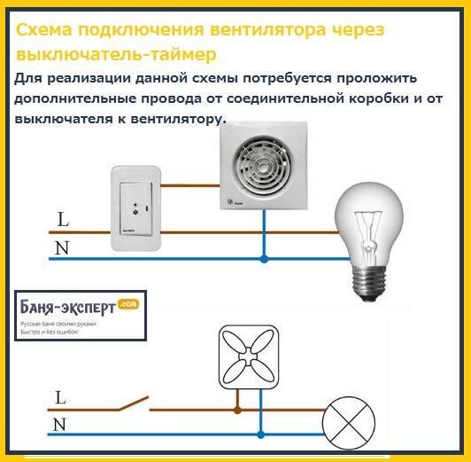 Вентилятор с таймером для ванной комнаты: выбор и подключение