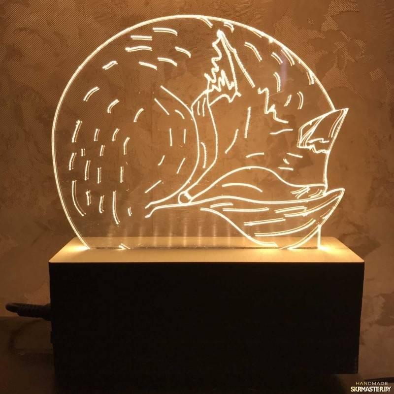 Ночник своими руками: фото и видео мастер-класс изготовления ночной лампы