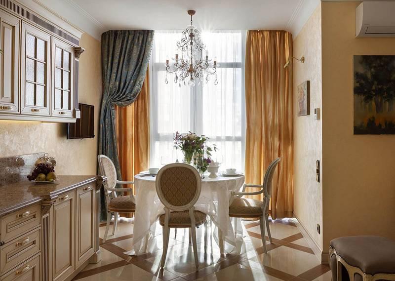 Варианты дизайна штор для кухни в классическом стиле: 50 классных фото