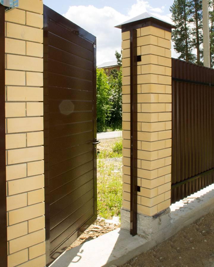 Закладные для ворот в кирпичных столбах