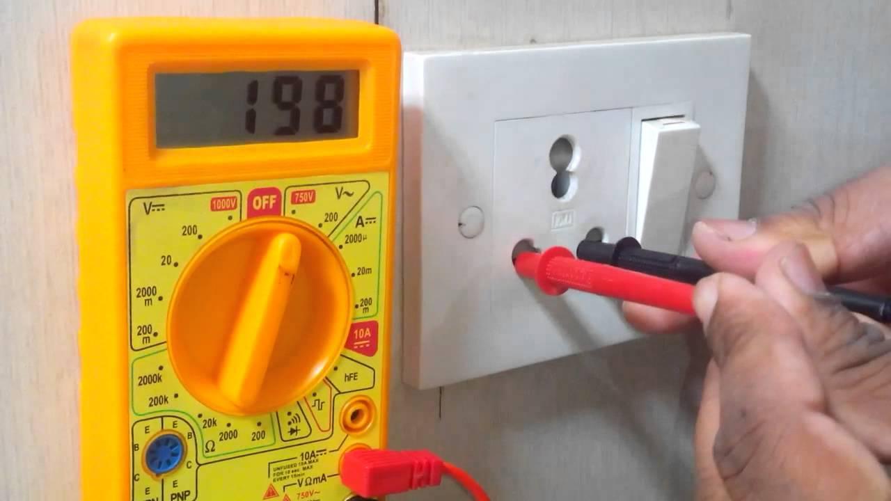 Как проверить напряжение в розетке мультиметром - фото и видео инструкция проверки напряжения мультиметром (120 фото)