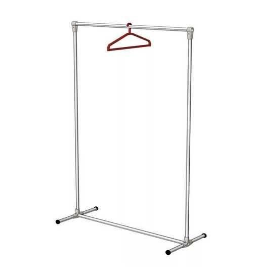 Гардеробная вешалка (67 фото): напольная и настенная с чехлом для одежды, штанги и крепление, металлическая для плечиков, на колесах