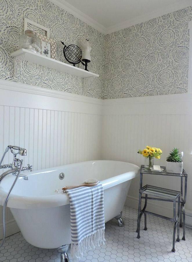 Моющиеся обои для ванной комнаты: как выбрать и клеить?