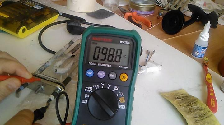 Как проверить (прозвонить) тэн мультиметром