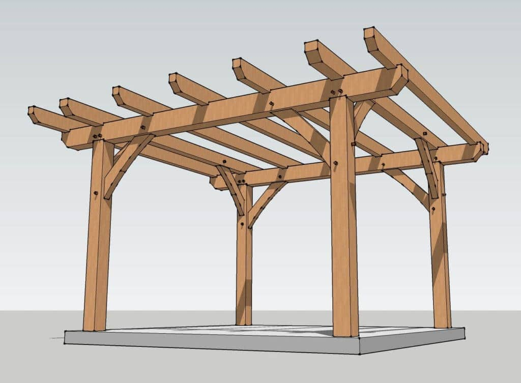 Пергола из дерева своими руками — подробный чертеж и инструкция