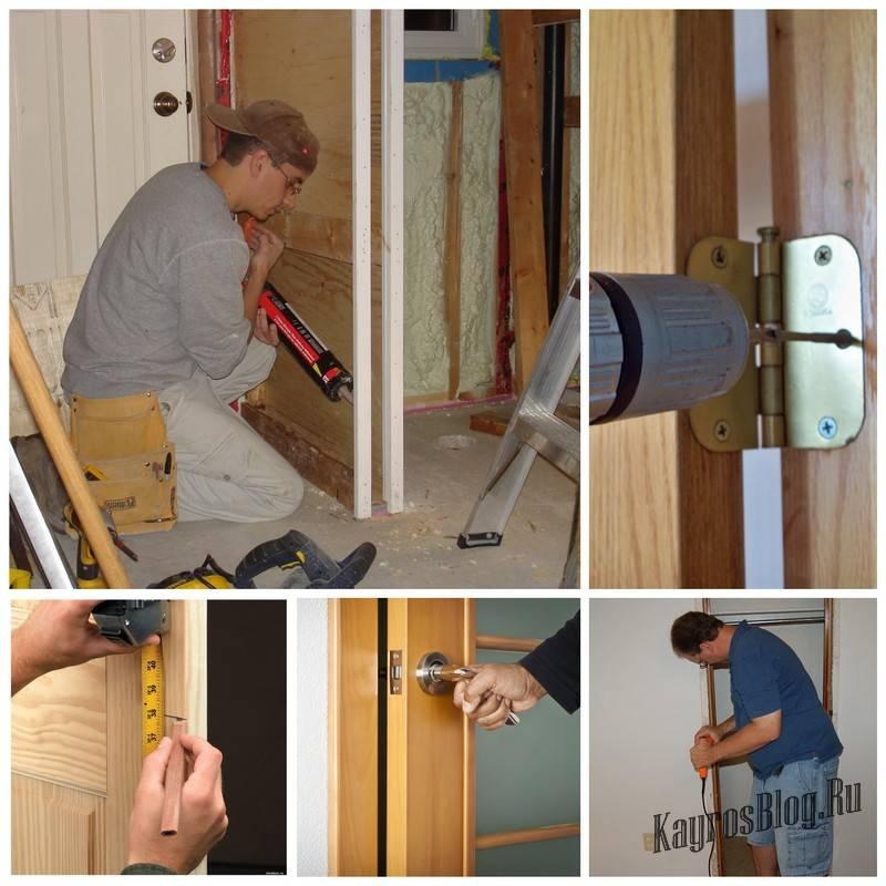 Монтаж коробки межкомнатной двери — как собрать и установить конструкцию своими руками?