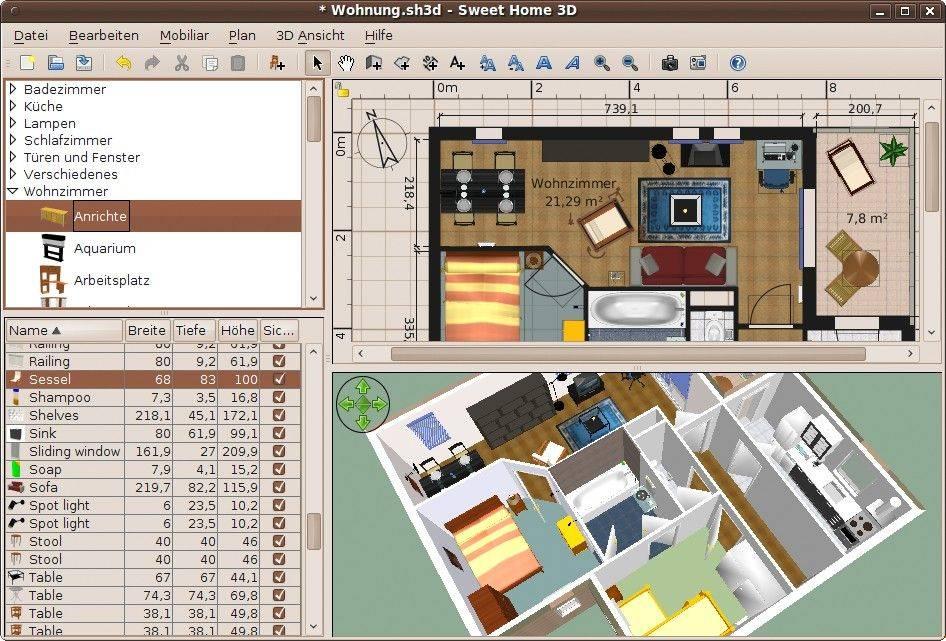 Программы для проектирования интерьера