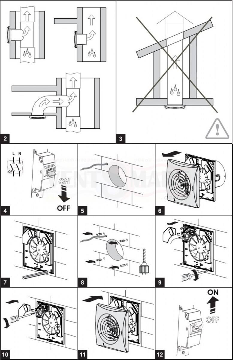 Как выбрать и установить вентилятор в ванную + как подключить вентилятор к выключателю