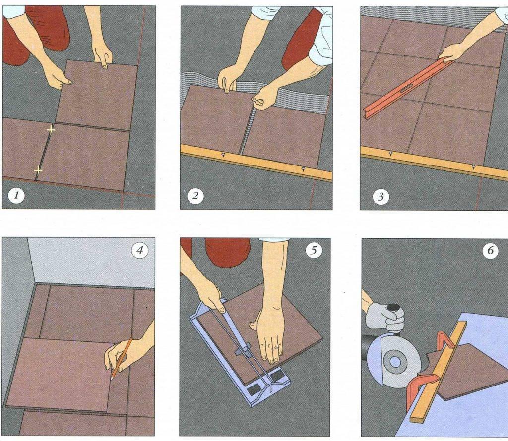 Как положить плитку на деревянный пол - технология укладки