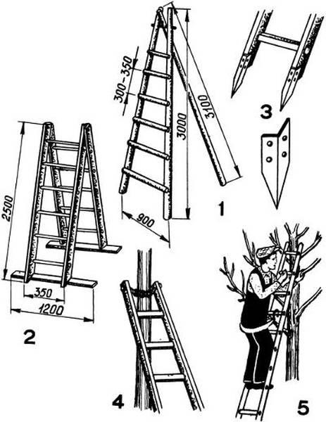 Приставная лестница своими руками - прямая и раскладная