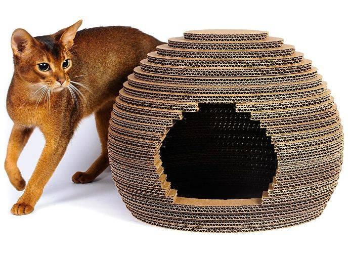 Как сделать дом для кошки из фанеры?