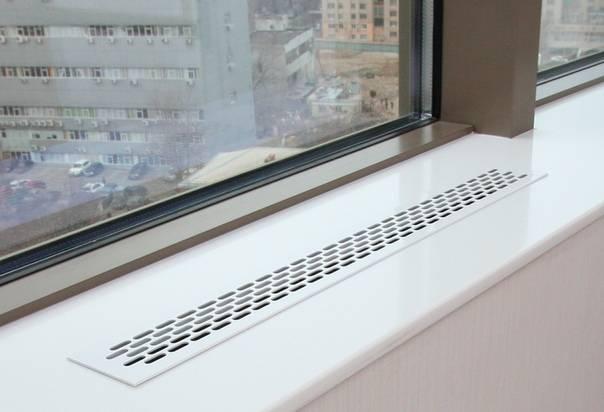 Вентиляционная решетка для подоконника: конвекционная продукция для батареи отопления, декоративные варианты для радиатора