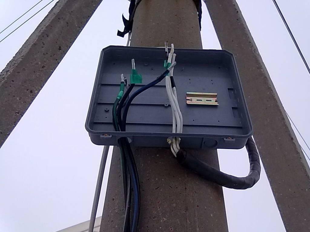 Установка счетчика электроэнергии на столбе