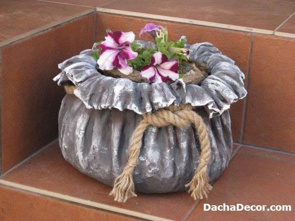 Как сделать вазон из бетона своими руками - «декор»