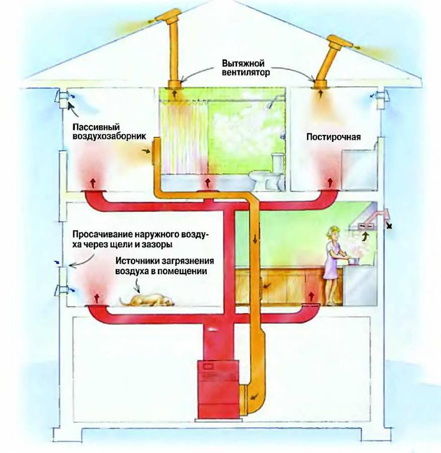 Принудительная вентиляция в частном доме: особенности и устройство