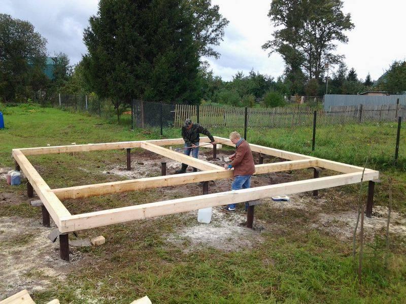 Выбираем и строим фундамент под каркасный дом