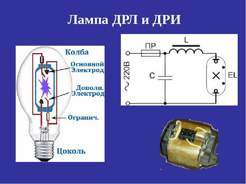 Подключение к сети ламп днат и дрл - electriktop.ru