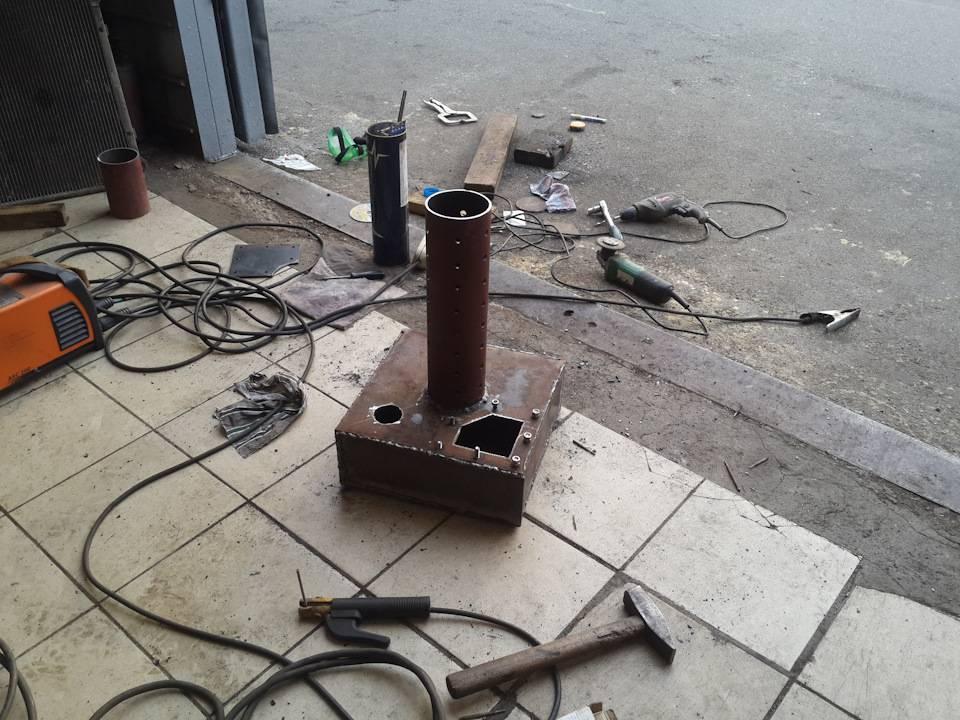 Печь на отработке для гаража своими руками: как сделать самодельную печку в гараж