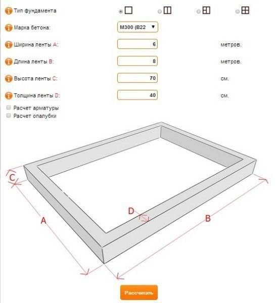 Калькулятор бетона - онлайн расчет компонентов