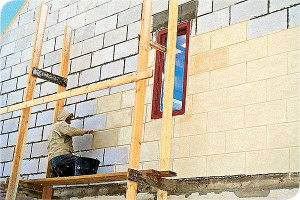 Виды отделки стен из газобетона