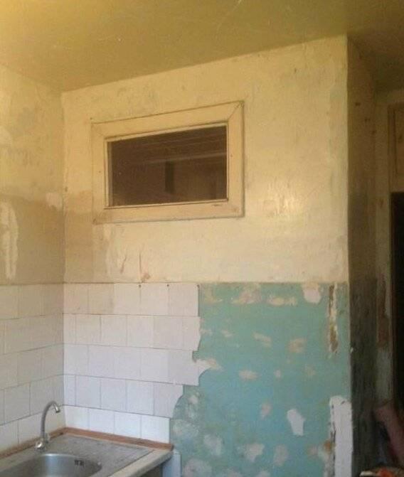 Зачем в старых домах делали окно между ванной и кухней?