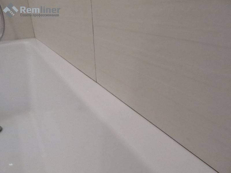 Стык между ванной и стеной — как заделать?