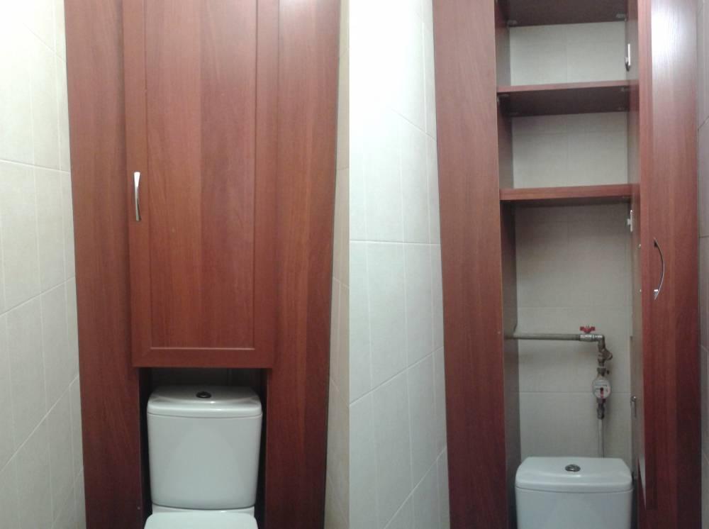 Шкаф в туалете за унитазом своими руками: необходимые инструменты и материалы, инструкции по изготовлению