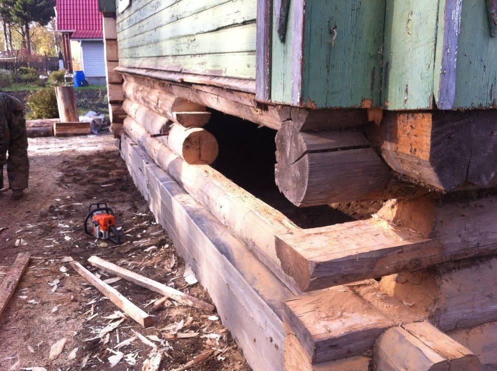 Поднять дом на фундамент