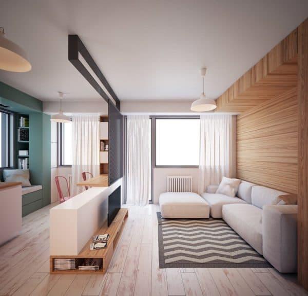 Дизайн однокомнатной квартиры 35 кв. м – фото, лучшие варианты планировок