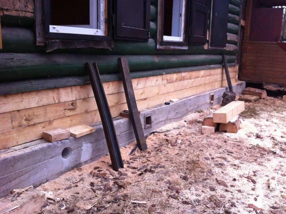 Замена нижних венцов деревянного (бревенчатого) дома: технология работ своими руками
