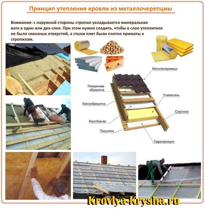 Утепление крыши деревянного дома, в том числе изнутри, как правильно сделать
