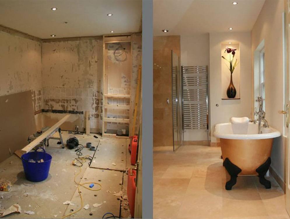 Последовательность ремонта в ванной комнате: этапы